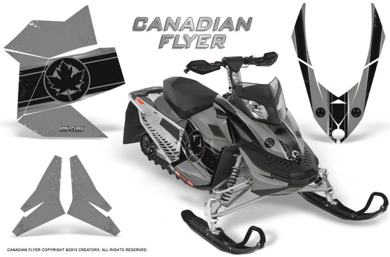 Skidoo-REV-XP-CreatorX-Graphics-Kit-Canadian-Flyer-Black-Silver