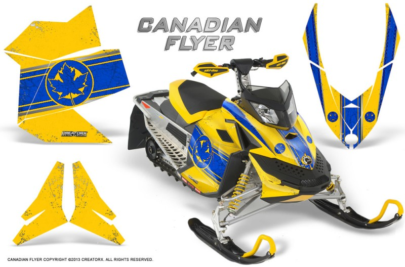 Skidoo-REV-XP-CreatorX-Graphics-Kit-Canadian-Flyer-Blue-Yellow