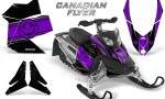 Skidoo REV XP CreatorX Graphics Kit Canadian Flyer Purple Black 150x90 - Ski-Doo Rev XP Graphics