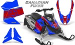 Skidoo REV XP CreatorX Graphics Kit Canadian Flyer Red Blue 150x90 - Ski-Doo Rev XP Graphics