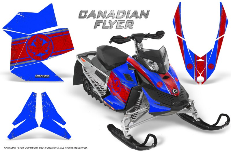 Skidoo-REV-XP-CreatorX-Graphics-Kit-Canadian-Flyer-Red-Blue