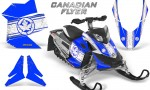 Skidoo REV XP CreatorX Graphics Kit Canadian Flyer White Blue 150x90 - Ski-Doo Rev XP Graphics