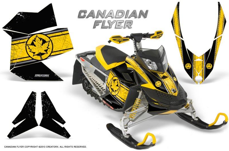 Skidoo-REV-XP-CreatorX-Graphics-Kit-Canadian-Flyer-Yellow-Black