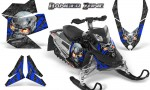 Skidoo REV XP CreatorX Graphics Kit Danger Zone Blue 150x90 - Ski-Doo Rev XP Graphics