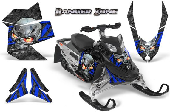 Skidoo REV XP CreatorX Graphics Kit Danger Zone Blue 570x376 - Ski-Doo Rev XP Graphics
