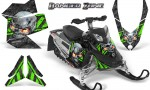 Skidoo REV XP CreatorX Graphics Kit Danger Zone Green 150x90 - Ski-Doo Rev XP Graphics