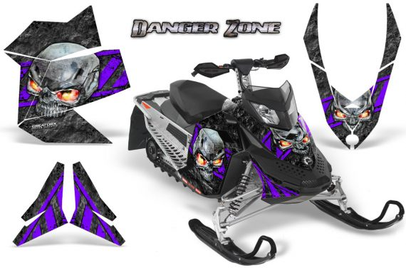 Skidoo REV XP CreatorX Graphics Kit Danger Zone Purple 570x376 - Ski-Doo Rev XP Graphics