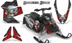 Skidoo REV XP CreatorX Graphics Kit Danger Zone Red 150x90 - Ski-Doo Rev XP Graphics