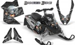 Skidoo REV XP CreatorX Graphics Kit Danger Zone Silver 150x90 - Ski-Doo Rev XP Graphics