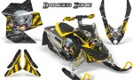 Skidoo REV XP CreatorX Graphics Kit Danger Zone Yellow 150x90 - Ski-Doo Rev XP Graphics