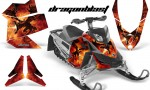 Skidoo REV XP CreatorX Graphics Kit Dragonblast 150x90 - Ski-Doo Rev XP Graphics