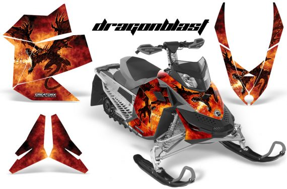 Skidoo REV XP CreatorX Graphics Kit Dragonblast 570x376 - Ski-Doo Rev XP Graphics