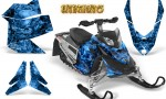 Skidoo REV XP CreatorX Graphics Kit Inferno Blue 150x90 - Ski-Doo Rev XP Graphics