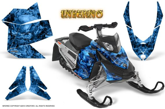 Skidoo REV XP CreatorX Graphics Kit Inferno Blue 570x376 - Ski-Doo Rev XP Graphics
