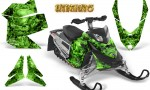 Skidoo REV XP CreatorX Graphics Kit Inferno Green 150x90 - Ski-Doo Rev XP Graphics