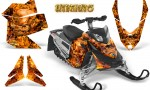 Skidoo REV XP CreatorX Graphics Kit Inferno Orange 150x90 - Ski-Doo Rev XP Graphics