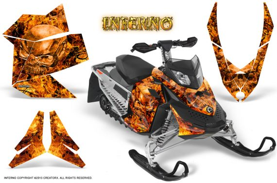 Skidoo REV XP CreatorX Graphics Kit Inferno Orange 570x376 - Ski-Doo Rev XP Graphics