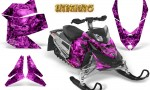 Skidoo REV XP CreatorX Graphics Kit Inferno Pink 150x90 - Ski-Doo Rev XP Graphics