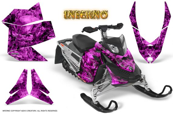 Skidoo REV XP CreatorX Graphics Kit Inferno Pink 570x376 - Ski-Doo Rev XP Graphics