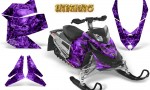 Skidoo REV XP CreatorX Graphics Kit Inferno Purple 150x90 - Ski-Doo Rev XP Graphics
