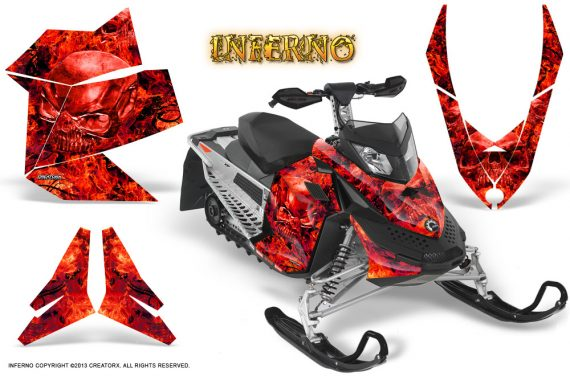 Skidoo REV XP CreatorX Graphics Kit Inferno Red 570x376 - Ski-Doo Rev XP Graphics