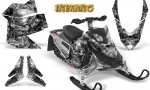 Skidoo REV XP CreatorX Graphics Kit Inferno Silver 150x90 - Ski-Doo Rev XP Graphics