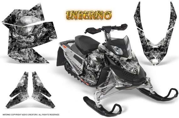 Skidoo REV XP CreatorX Graphics Kit Inferno Silver 570x376 - Ski-Doo Rev XP Graphics