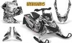 Skidoo REV XP CreatorX Graphics Kit Inferno White 150x90 - Ski-Doo Rev XP Graphics