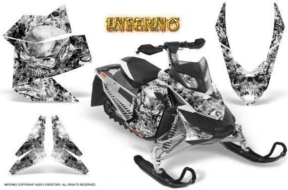 Skidoo REV XP CreatorX Graphics Kit Inferno White 570x376 - Ski-Doo Rev XP Graphics