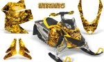 Skidoo REV XP CreatorX Graphics Kit Inferno Yellow 150x90 - Ski-Doo Rev XP Graphics