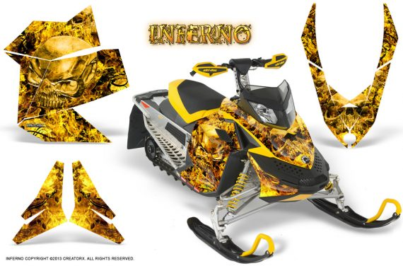 Skidoo REV XP CreatorX Graphics Kit Inferno Yellow 570x376 - Ski-Doo Rev XP Graphics