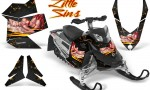 Skidoo REV XP CreatorX Graphics Kit Little Sins Black 150x90 - Ski-Doo Rev XP Graphics