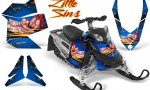 Skidoo REV XP CreatorX Graphics Kit Little Sins Blue 150x90 - Ski-Doo Rev XP Graphics