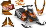 Skidoo REV XP CreatorX Graphics Kit Little Sins Orange 150x90 - Ski-Doo Rev XP Graphics