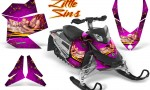 Skidoo REV XP CreatorX Graphics Kit Little Sins Pink 150x90 - Ski-Doo Rev XP Graphics