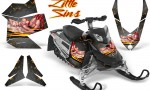 Skidoo REV XP CreatorX Graphics Kit Little Sins Silver 150x90 - Ski-Doo Rev XP Graphics