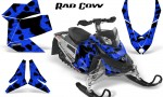 Skidoo REV XP CreatorX Graphics Kit Rad Cow Blue 150x90 - Ski-Doo Rev XP Graphics