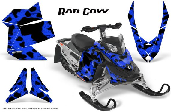 Skidoo REV XP CreatorX Graphics Kit Rad Cow Blue 570x376 - Ski-Doo Rev XP Graphics