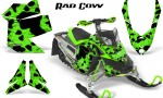 Skidoo REV XP CreatorX Graphics Kit Rad Cow Green 150x90 - Ski-Doo Rev XP Graphics