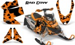 Skidoo REV XP CreatorX Graphics Kit Rad Cow Orange 150x90 - Ski-Doo Rev XP Graphics