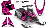 Skidoo REV XP CreatorX Graphics Kit Rad Cow Pink 150x90 - Ski-Doo Rev XP Graphics