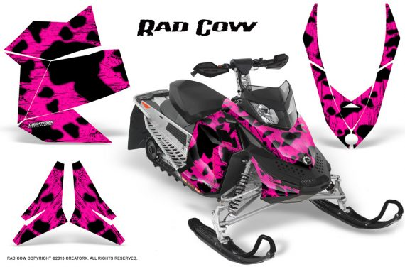 Skidoo REV XP CreatorX Graphics Kit Rad Cow Pink 570x376 - Ski-Doo Rev XP Graphics