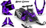 Skidoo REV XP CreatorX Graphics Kit Rad Cow Purple 150x90 - Ski-Doo Rev XP Graphics