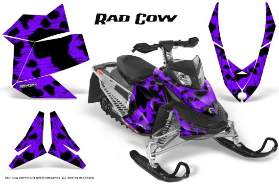 Skidoo REV XP CreatorX Graphics Kit Rad Cow Purple 570x376 - Ski-Doo Rev XP Graphics