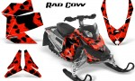 Skidoo REV XP CreatorX Graphics Kit Rad Cow Red 150x90 - Ski-Doo Rev XP Graphics
