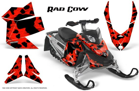 Skidoo REV XP CreatorX Graphics Kit Rad Cow Red 570x376 - Ski-Doo Rev XP Graphics
