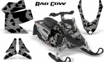 Skidoo REV XP CreatorX Graphics Kit Rad Cow Silver 150x90 - Ski-Doo Rev XP Graphics