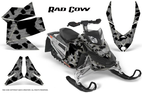 Skidoo REV XP CreatorX Graphics Kit Rad Cow Silver 570x376 - Ski-Doo Rev XP Graphics