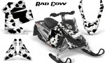 Skidoo REV XP CreatorX Graphics Kit Rad Cow White 150x90 - Ski-Doo Rev XP Graphics