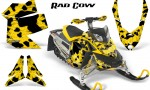 Skidoo REV XP CreatorX Graphics Kit Rad Cow Yellow 150x90 - Ski-Doo Rev XP Graphics